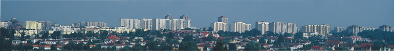 <left>Panorama of Tychy