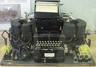 Typex British encryption machine based on the German Enigma, used from 1937 until the mid-1950s