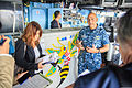 U.S. Navy Capt. Kurush Morris, right, the commanding officer of the guided-missile cruiser USS Shiloh (CG 67), talks with Japanese journalists during a ship visit in Yokosuka, Japan, Oct. 20, 2014 141020-N-NE138-140.jpg