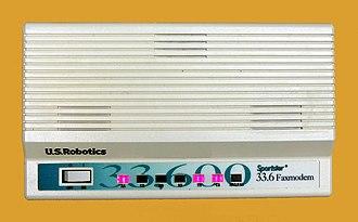 Fax modem - Image: U.S. Robotics 33.6K Modem