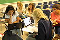 UCSB's Art, Design, and Architecture Museum Club work on wiki markup..jpg