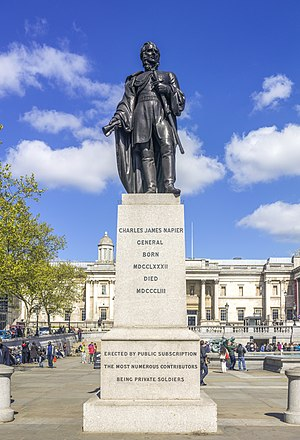 Charles James Napier - The statue of Charles James Napier in Trafalgar Square, London