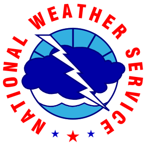 The logo of the United States National Weather...