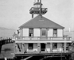 Oakland Harbor Light - Oakland Harbor Light at Embarcadero Cove by U.S. Coast Guard Archive