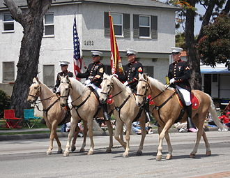 Torrance, California - The Torrance Armed Forces Day Parade, with a USMC unit.