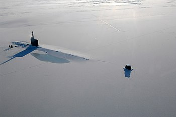 USS Annapolis during Ice Exercise 2009
