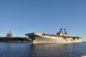 USS Bataan arrives at Naval Station Mayport 121102-N-IC228-001