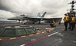 USS George Washington conducts flight operations. (27015796632).jpg