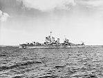 USS Honolulu (CL-48) underway near Espiritu Santo on 7 August 1943 (80-G-259466).jpg