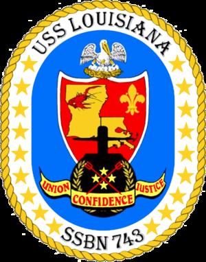 USS Louisiana (SSBN-743) - Image: USS Louisiana SSBN 743 COA