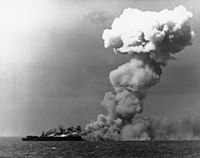 USS Princeton (CVL-23) burning on 24 October 1944 (80-G-287970).jpg