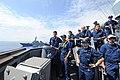 USS Ramage prepares for a replenishment. (9715564851).jpg