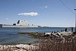 USS Zumwalt departs Bath, Maine to conduct acceptance trials. (26493633871).jpg
