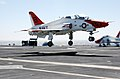 US Navy 030318-N-4768W-054 A T-45 Goshawk lands on the flight deck aboard USS John C. Stennis (CVN 74).jpg