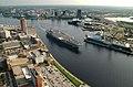 US Navy 030820-N-9851B-018 Tug boats guide USS Harry S. Truman (CVN 75) up the Elizabeth River, past Portsmouth landmarks, to the Norfolk Naval Shipyard.jpg