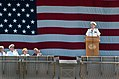 US Navy 040723-N-8252B-183 Nimitz class aircraft carrier USS Ronald Reagan (CVN 76), Commanding Officer, Capt. James A. Symonds, delivers remarks at the ship^rsquo,s homeporting ceremonies.jpg
