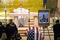 US Navy 050709-N-0050T-018 U.S. Navy Chaplain, Cmdr. Ab-bihn Nguyen delivers an invocation during a funeral service held in honor of Senior Chief (SEAL) Daniel R. Healy, at St. Charles Borromeo Catholic Church.jpg