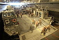 US Navy 050903-N-6204K-012 U.S. Navy personnel assigned to the amphibious assault ship USS Iwo Jima (LHD 7), load a Landing Craft, Air Cushion (LCAC) with equipment as they prepare to provide relief to victims of Hurricane Katr.jpg