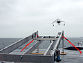 US Navy 060508-N-4021H-066 A Manta Unmanned Aerial Vehicle (UAV) launches from the flight deck of experimental boat ship Stiletto during Exercise Howler.jpg