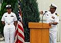 US Navy 070911-N-2638R-003 Cmdr. Derek Ross speaks during a Sept. 11th memorial ceremony at Commander Fleet Activities Yokosuka.jpg