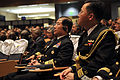 US Navy 091007-N-8273J-080 Adm. Jung, Ok-Keun, Republic of Korea Navy, Chief of Naval Operations, middle, listens via an interpreter to the opening remarks delivered by Chief of Naval Operations (CNO) Adm. Gary Roughead.jpg
