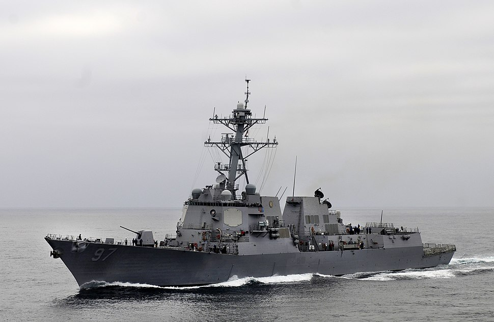 US Navy 110918-N-BC134-014 The Arleigh Burke-class guided-missile destroyer USS Halsey (DDG 97) transits the Pacific Ocean