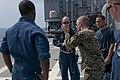 US Navy 111020-N-ER662-268 Marine Sgt. Michael Gesler assigned to the 31st Marine Expeditionary Unit (31rst MEU), Kilo battery division, explains f.jpg