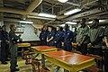 US Navy 111122-N-YM590-034 Rear Adm. Nora W. Tyson, commander of Carrier Strike Group (CSG) 2, left, speaks with Sailors during a visit aboard the.jpg
