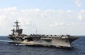 US Navy 120120-N-GZ832-700 The Nimitz-class aircraft carrier USS Carl Vinson (CVN 70) is underway in the Arabian Sea.jpg