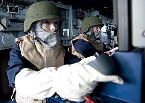 US Navy 120124-N-NL401-085 Gunner's Mate Seaman Dayna C. Balek operates a tactical console.jpg