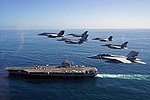 US Navy and Chilean aircraft over USS George Washington (CVN-73) in October 2015.JPG