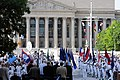 US Navy http-www.navy.mil-management-photodb-photos-100604-N-5025C-002 Members of the U.S. Navy Ceremonial Guard parade the colors at the start of the Battle of Midway Commemoration ceremony at the Navy Memorial.jpg