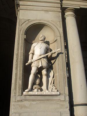 Giovanni dalle Bande Nere - Statue at the Uffizi.