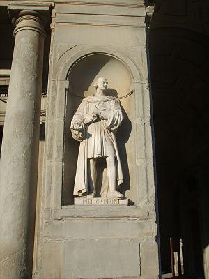 Piero Capponi - His statue in the Uffizi