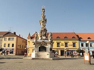 Maria column in Uherské Hradiště