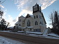 United Church, Athabasca AB, from the north east, landscape format.JPG