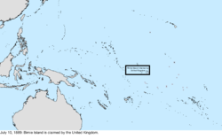 Map of the change to the United States in the Pacific Ocean on July 10, 1889