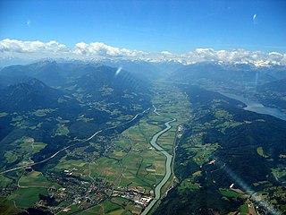 Haupttal des österreichischen Bundeslandes Kärnten und von Osttirol