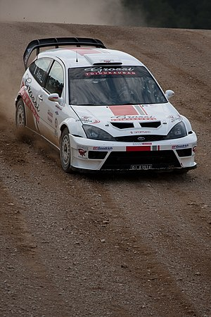 Urmo Aava - Urmo Aava driving Ford Focus RS WRC in 2010.