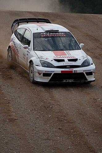 Urmo Aava - Urmo Aava driving Ford Focus RS WRC in 2010.