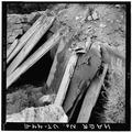 VIEW OF MASONRY VENTILATION PORTAL, LOOKING NORTHWEST - Winter Quarters Mine, Scofield, Carbon County, UT HAER UTAH,4-SCOF,2-11.tif