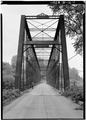 VIEW OF SOUTHWEST PORTAL - Laughery Creek Bridge, Spanning Laughery Creek, Aurora, Dearborn County, IN HAER IND,15-AUR.V,1-1.tif