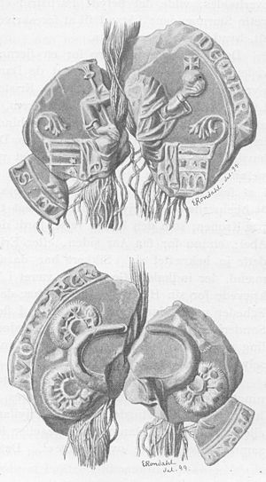Valdemar III of Denmark - Seal of Valdemar III