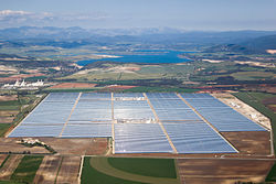 Aerial photographs of the Valle Solar Power Station.