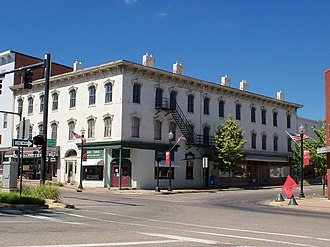 Carrollton, Ohio - The Van Horn Building in downtown Carrollton