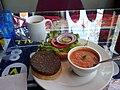 Vege burger at Saturn Cafe, Santa Cruz (3619877618).jpg