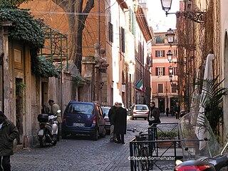 Via Margutta narrow street in the centre of Rome, near Piazza del Popolo