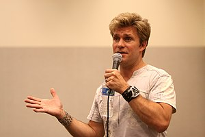 "Pilgrim of Eternity - Director, co-writer and co-producer Vic Mignogna, who portrayed Captain Kirk in ""Pilgrim"""