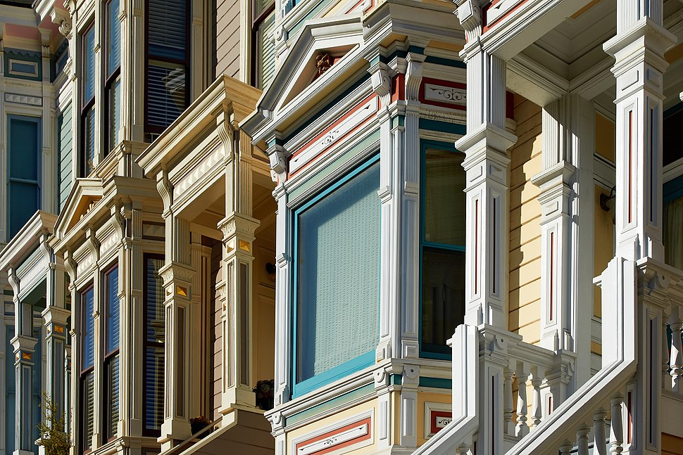 Victorian facades on 16th Street in San Francisco