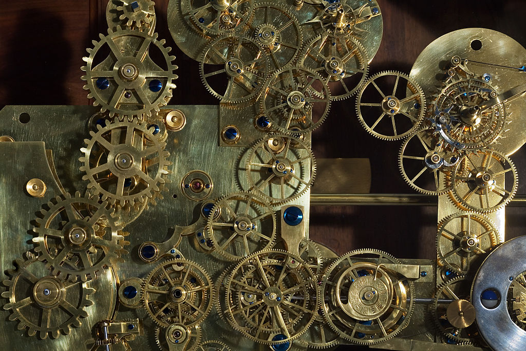 Vienna - Vintage Franz Zajizek Astronomical Clock machinery - 0518